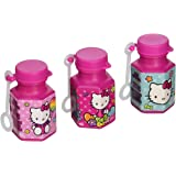 Hello Kitty Rainbow Mini Bubbles Birthday Party Toy Favours (12 Pack), Pink, 0.6 oz..