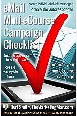 eMail Mini-eCourse/Campaign Checklist Kindle Edition