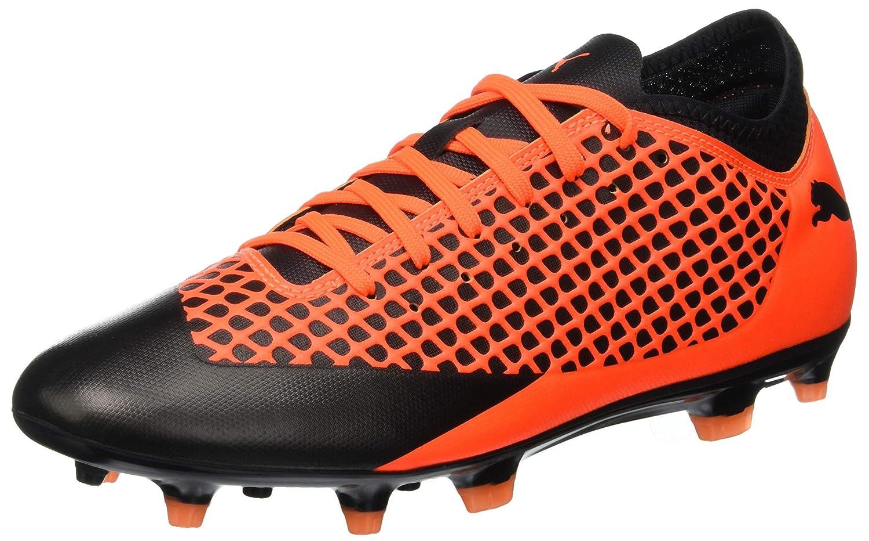 Puma Future 2.4 FG/AG, Zapatillas de Fútbol para Hombre 40 EU|Negro (Puma Black-shocking Orange 02)