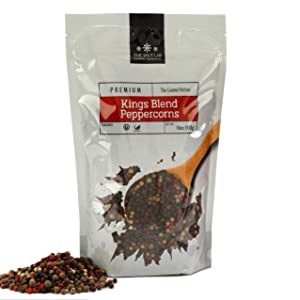 The Spice Lab 5 pepper Rainbow Peppercorn - Mixed Peppercorns with Pimenta (All Spice) – 1 Pound Resealable Bag - Kings Peppercorn Medley - All Natural OU Kosher Gluten Free - Peppercorns for Grinder Refill