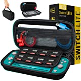 Carry Case for Nintendo Switch Lite - Portable Travel Carry Case with Storage for Switch Lite Games & Accessories [Solid Black]