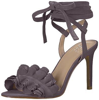 75de621f106 Amazon.com  The Fix Women s Cantu Ruffle Ankle Wrap Dress Sandal  Shoes