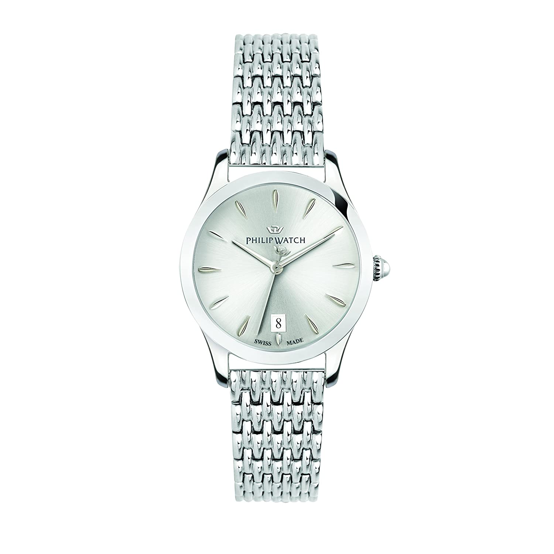 Damen Quarz Mit Philip Analog Armband Watch Uhr Edelstahl 8nm0Nw