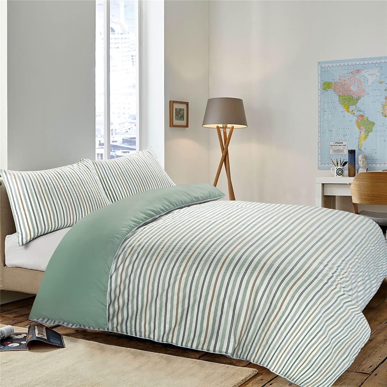 Nimsay Home Soft Plain Reversible Cotton Rich Easy Care Duvet Cover Bedding Set