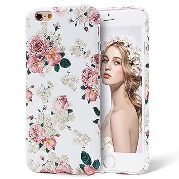 bc4835499f Imikoko iPhone 6 6s ケース アイフォン6 6s カバー 花柄 スマホケース ハード おしゃれ 可愛い 人気