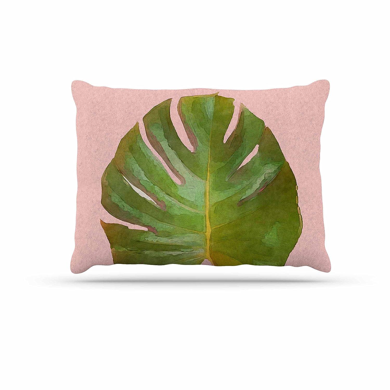 KESS InHouse Oriana Cordero Peonies Pink Green Dog Bed, 50  x 40