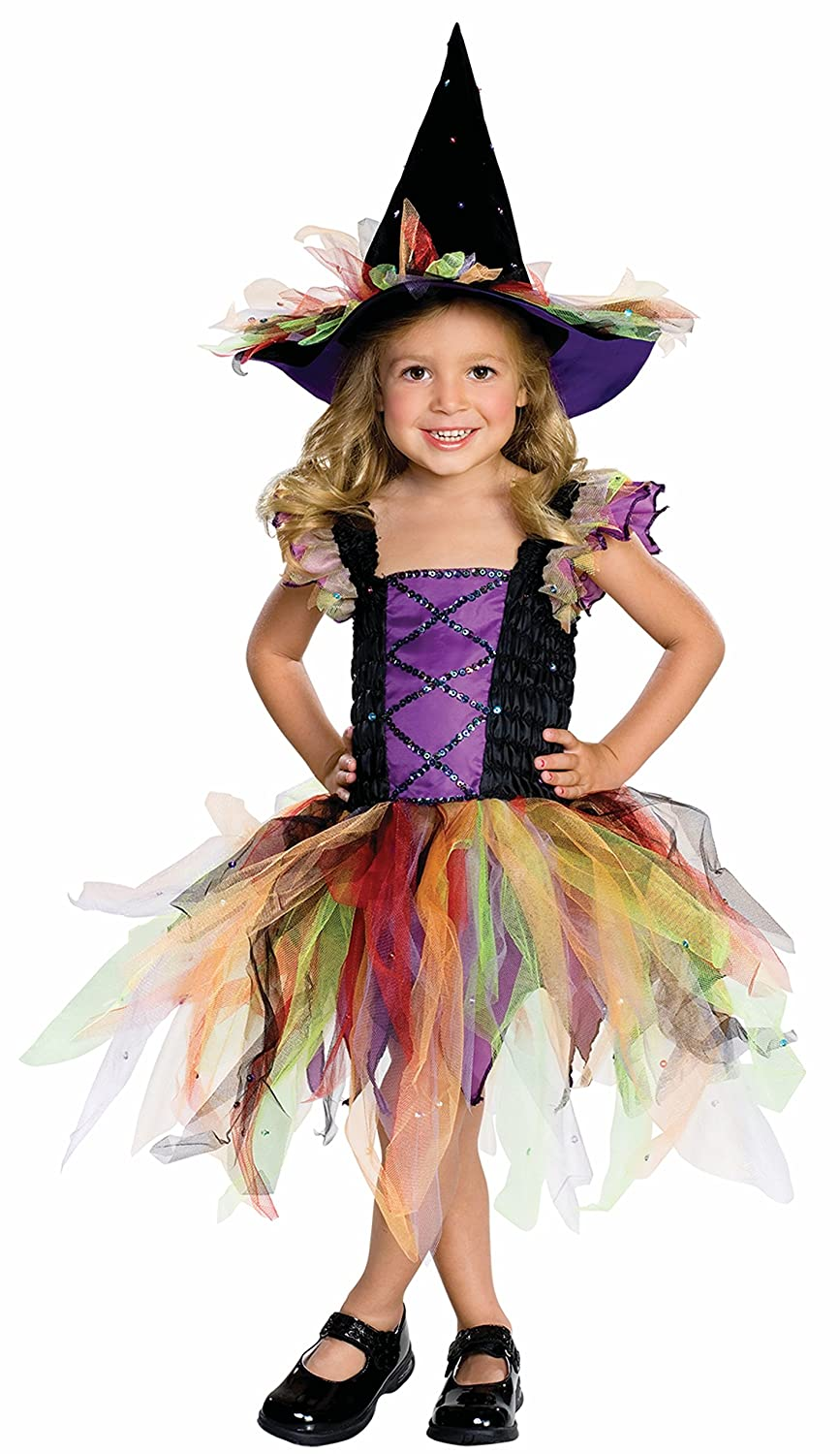 Amazon.com: Let's Pretend Child's Glitter Witch Costume, Toddler ...