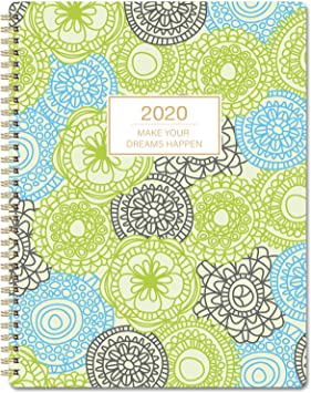 11 x 8.5 . Twin Wire Binding Planner with 12 Monthly Tabs Planner 2020 Weekly /& Monthly Planner 2020 Planner