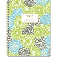 """2020 Planner - Planner 2020 Weekly & Monthly Planner, 11"""" x 8.5"""" Planner with 12 Monthly Tabs, Twin Wire Binding"""