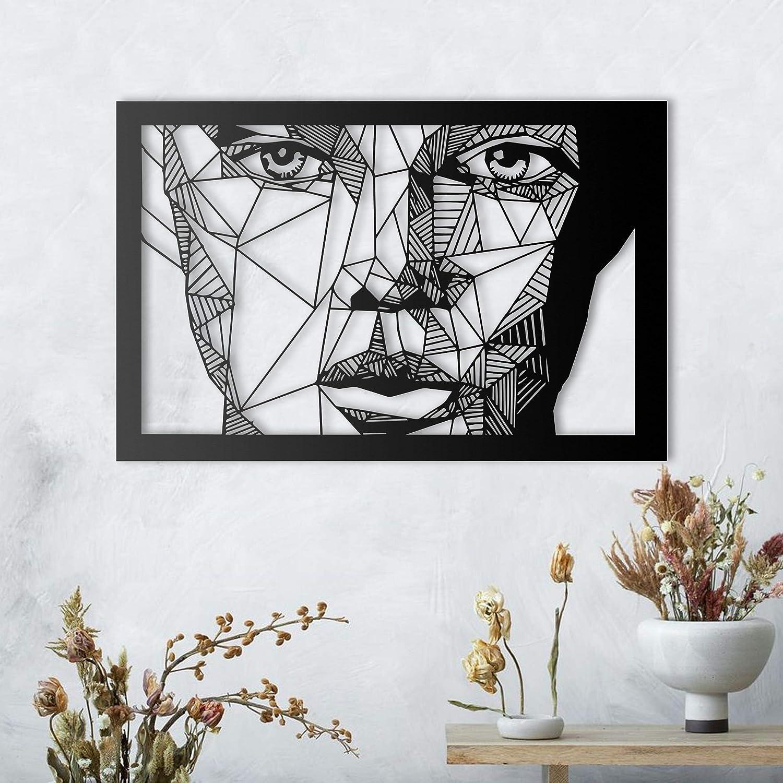 ikonika Metal Abstract Woman Full Face Left Wall Decor, Metal Wall Art, Black Wall Decor Bathroom Decor, Bedroom Decor and Kitchen Wall Decor, Wall Decorations for Living Room
