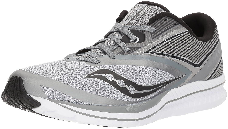 Saucony Men's Kinvara 9 Running Shoe B071WKLX7D 12 D(M) US|Grey/Black