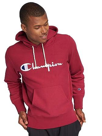 b8c6d1213801 Champion Mens Script Reverse Weave Hoodie  Amazon.co.uk  Clothing