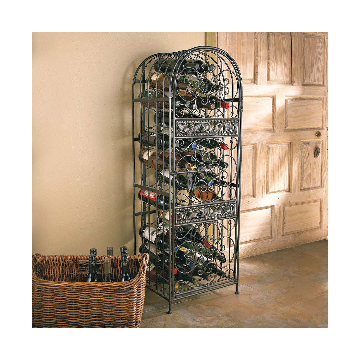 Wine Enthusiast Renaissance Wrought Iron Wine Jail by Wine Enthusiast (Image #2)