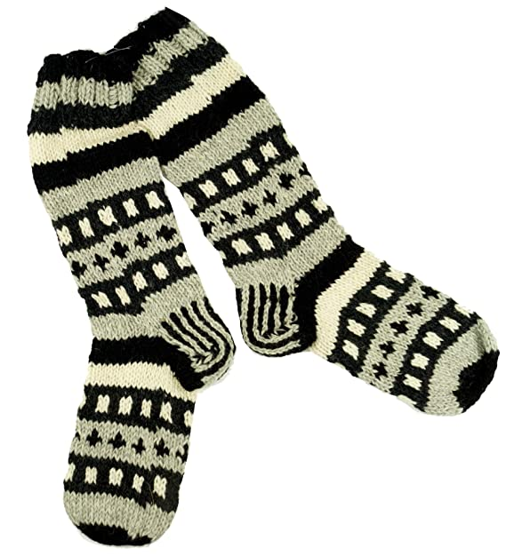 GURU-SHOP, Calcetines de Lana de Oveja Tejidos a Mano, Calcetines de Nepal 41-44, Gris, Tamaño:One Size, Calcetines Calientapiernas: Amazon.es: Ropa y ...
