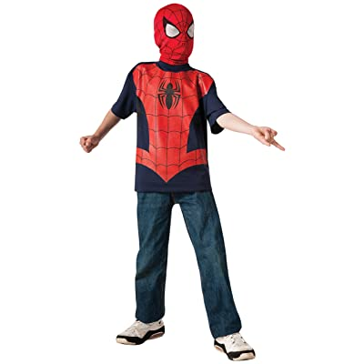 Rubie's Marvel Ultimate Spider-man T-Shirt and Mask, Child Small - Child Small One Color: Toys & Games