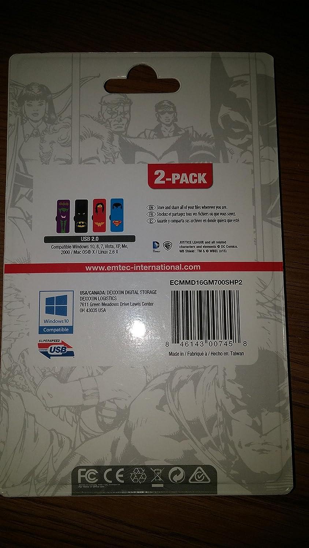 Emtec 16GB Flash Drive M700 Super Hero 2-Pack ECMMD16GM700SHP2