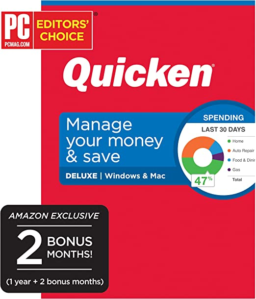 WINDOWS//MAC NEW SEALED in box QUICKEN DELUXE 2018 2-YEAR MEMBERSHIP included