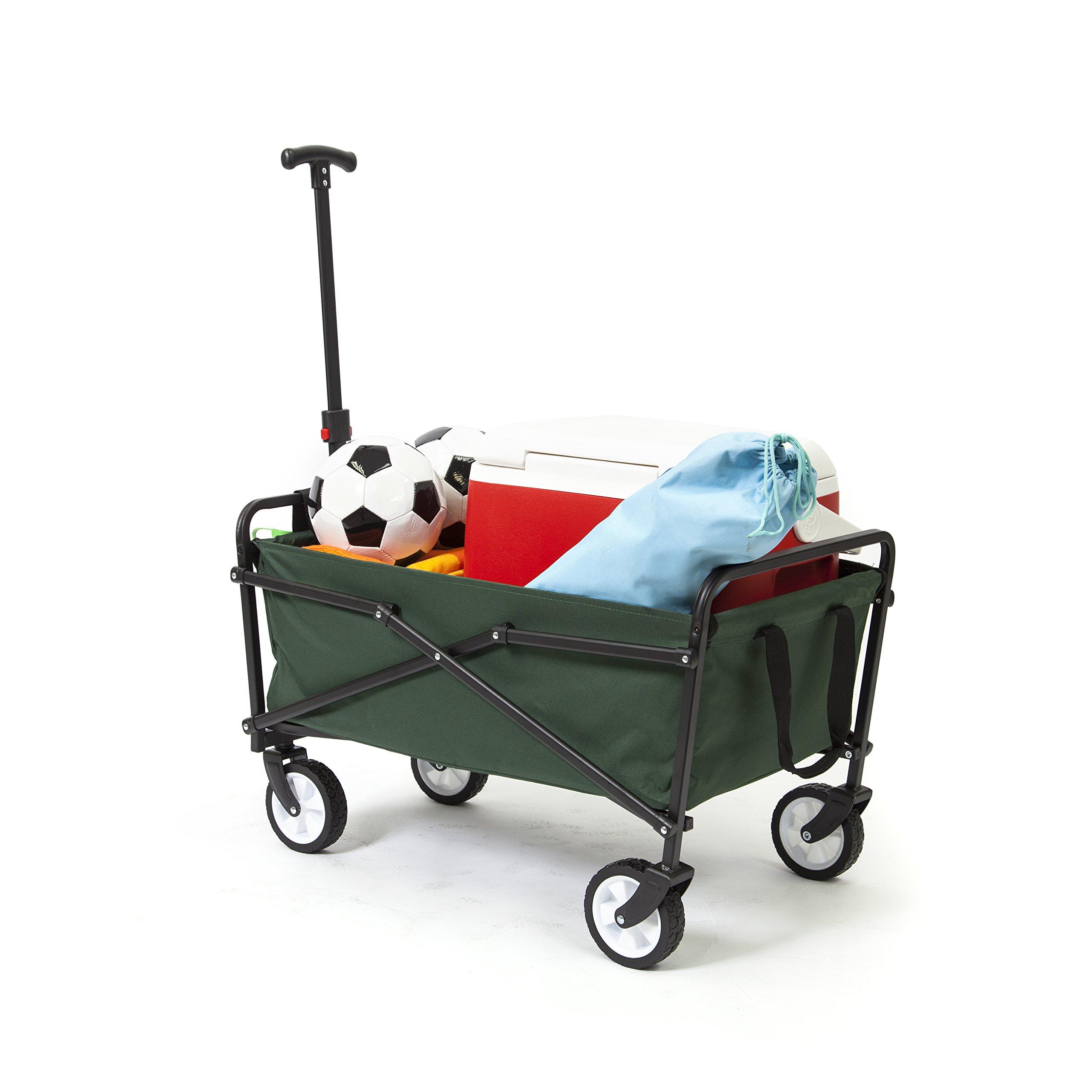 YSC Wagon Garden Folding Utility Shopping Cart,Beach (Green) by YSC (Image #5)