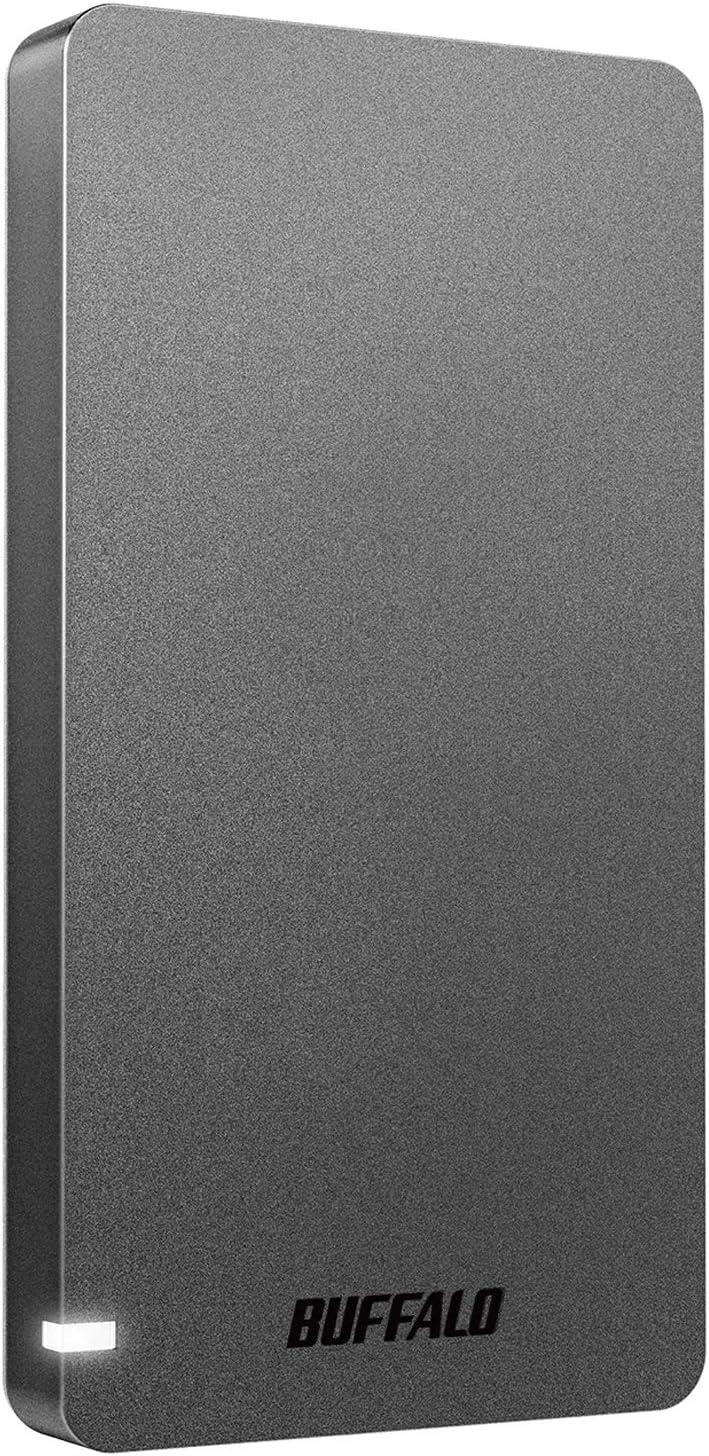 BUFFALO USB3.2Gen2 ポータブルSSD 960GB 名刺サイズ 読込速度530MB/s 日本製 PS5/PS4(メーカー動作確認済) 耐衝撃・コネクター保護機構 ブラック SSD-PGM960U3-B/N