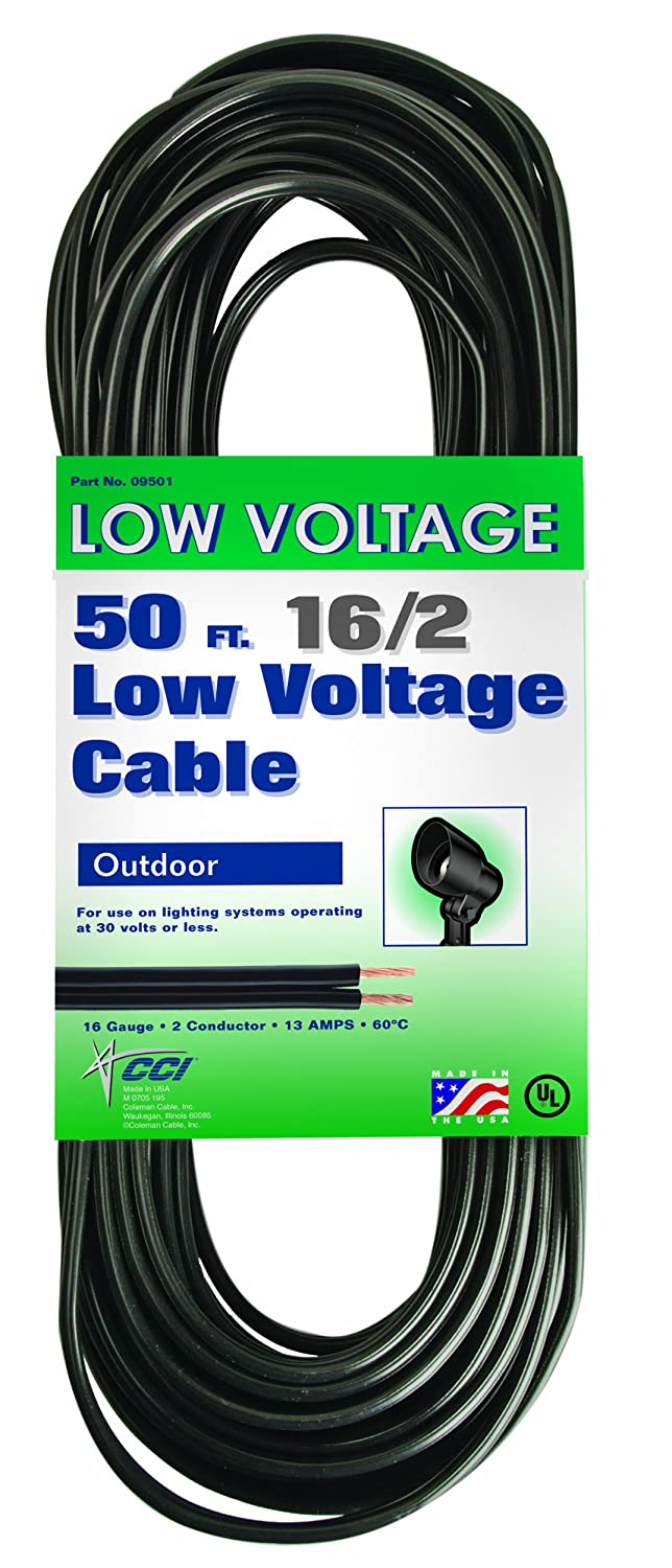 coleman cable 095015008 16 2 low voltage lighting cable 50 feet hot. Black Bedroom Furniture Sets. Home Design Ideas