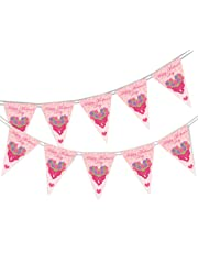 Happy Mothers Day Themed Bunting Banner - Flowers - 15 flags - for simply stylish party decoration by PARTY DECOR