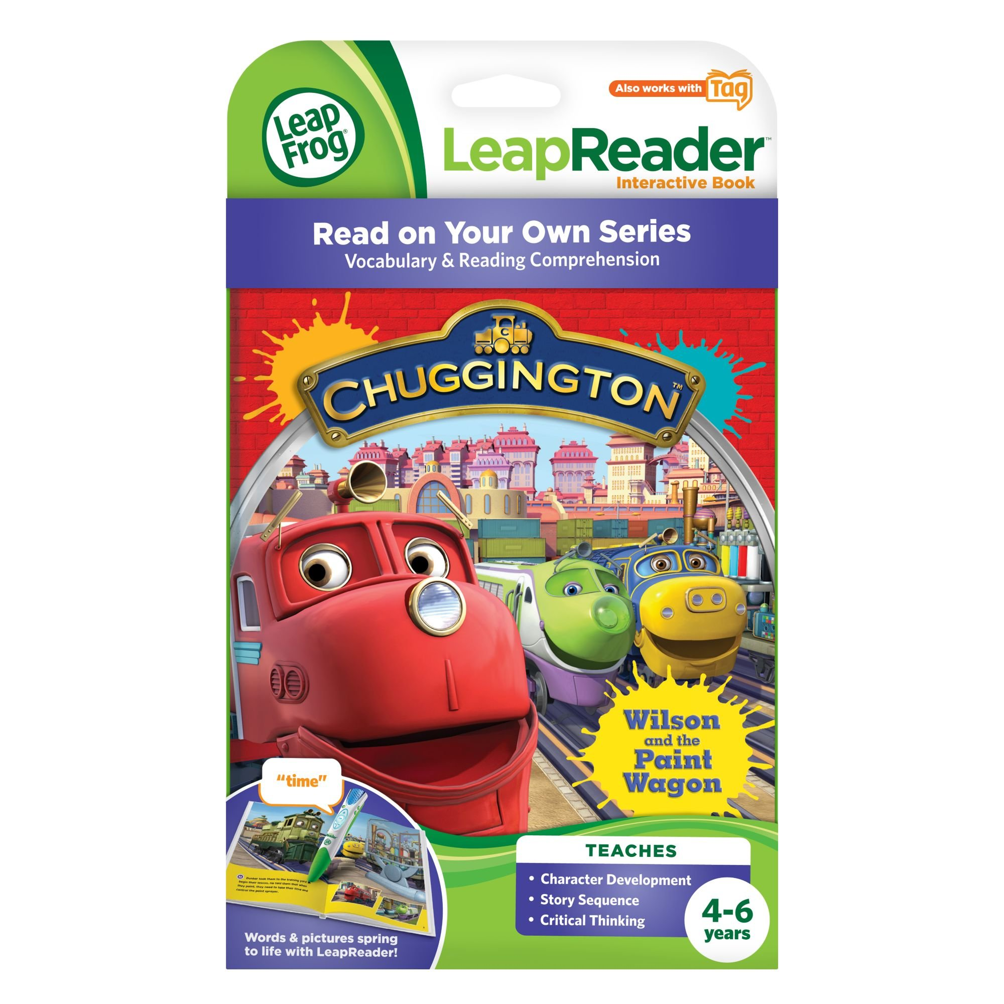 LeapFrog LeapReader Book: Chuggington: Wilson and the Paint Wagon (works with Tag) by LeapFrog (Image #3)