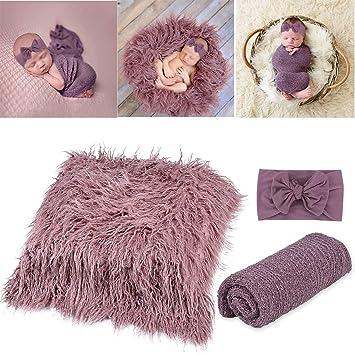 Baby Newborn Photographic Mat Kids Wool Photo Props Photography Quilt Scarf BG