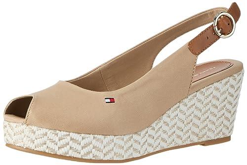 c053e40975a Tommy Hilfiger E1285lba 39d, Women's Wedge Heels Sandals, Brown (Desert  Sand 932)