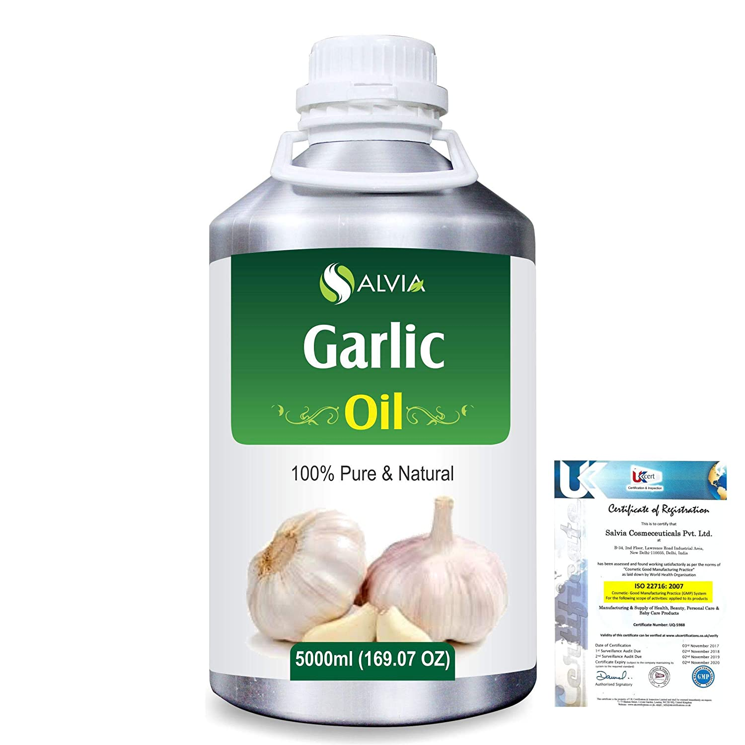 Garlic (Allium Sativum) 100% Pure Natural Essential Oil 5000ml/169 fl.oz. B07RLJP3X8
