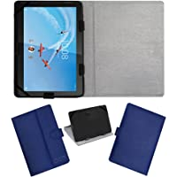 Acm Leather Flip Flap Case for Lenovo Tab M10 X605l Tablet Cover Stand Blue