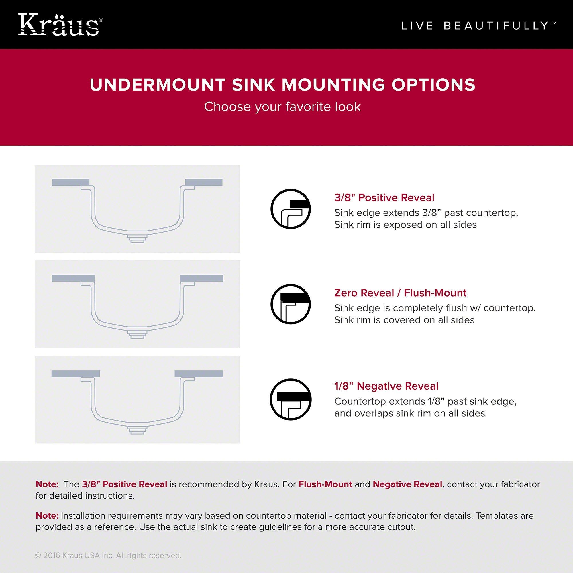 Kraus Outlast MicroShield Scratch-Resist Stainless Steel Undermount 50/50 Double Bowl Sink, 32'' 16 Gauge, Premier Series KBU22E by Kraus (Image #4)