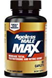 AGELESS MALE MAX Total Testosterone and Nitric Oxide Booster Supplement for Increasing Muscle Size, Sexual Enhancement, Sleep + Reducing Body Fat & Stress - 60 Tablets