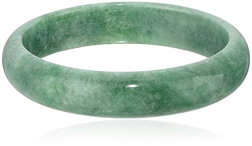 Polished Green Jade Slip-On Bangle Bracelet