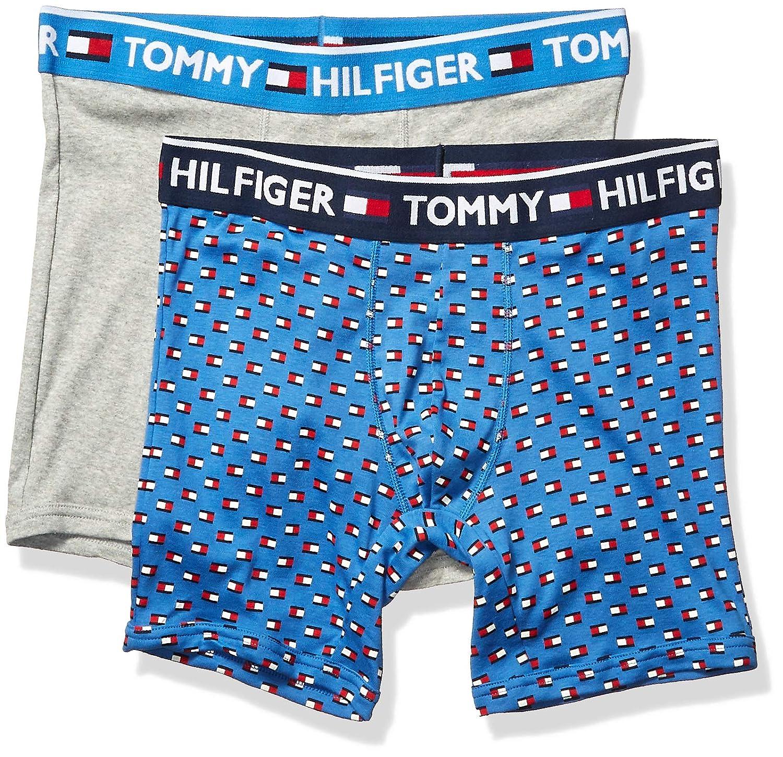 Tommy Hilfiger Mens Underwear 2 Pack Bold Cotton Boxer Briefs Boxer Briefs