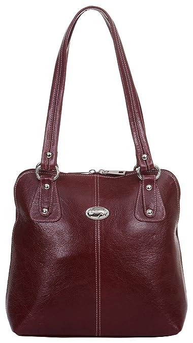 Hileder Women s Maroon Leather Shoulder Bag Handbag Purse  Amazon.in ... 1063ca87c9