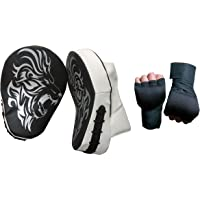 Bsyon Taekwonod Focus Pad Curved with Hand Wrap for Men,Women,Boys,Senior,Coach,Professional