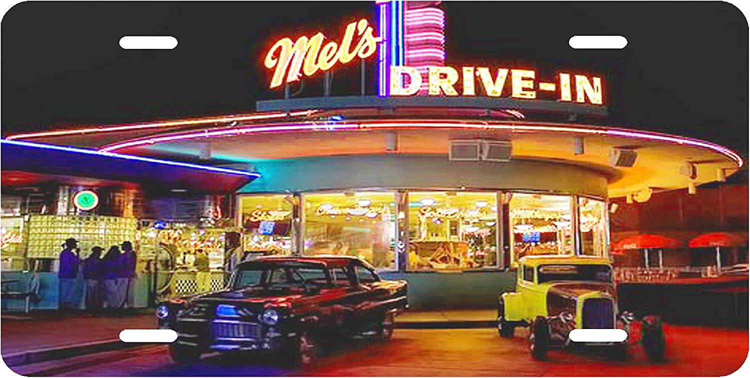 American Graffiti 60s Mels Drive-in Novelty License Plate