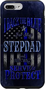 iPhone 7 Plus/8 Plus Back the Blue Flag Police Stepdad Family Support Case