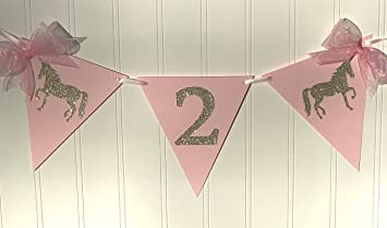 2nd Birthday Banner Once Upon A Unicorn By Piece Of Cake