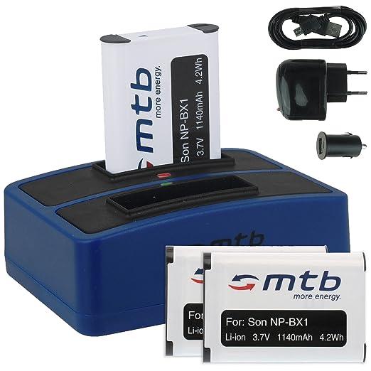 14 opinioni per 3x Batteria + Caricabatteria doppio (USB/Auto/Corrente) per Sony NP-BX1 / Sony
