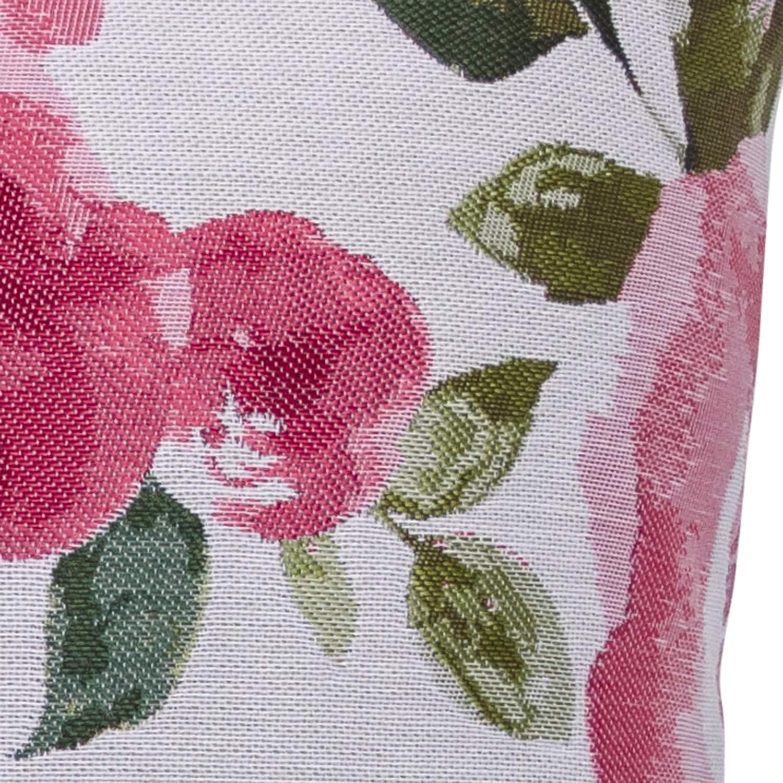 Urban Loft by Westex Big Flowers Feather Filled Decorative Throw Cushion 20 x 20 x 4 Floral