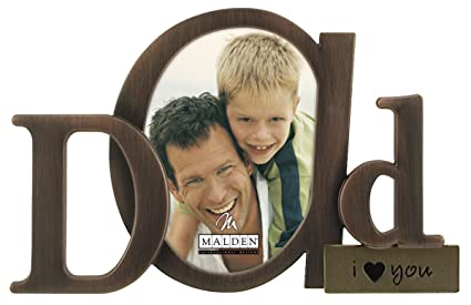 Amazoncom Malden International Designs Bronze Script Dad Picture