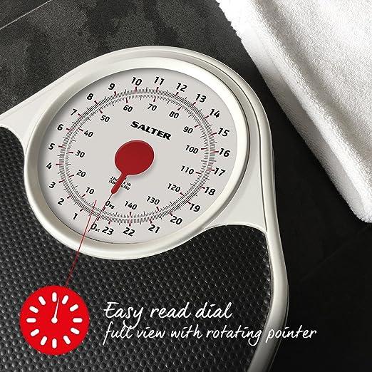 Salter 145 BKDR - Báscula mecánica para baño: Amazon.es: Salud y cuidado personal