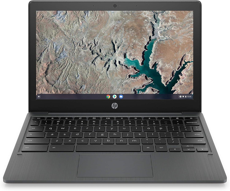 HP Chromebook 11-inch Laptop - MediaTek - MT8183 - 4 GB RAM - 32 GB eMMC Storage - 11.6-inch HD Display - with Chrome OS - (11a-na0010nr, 2020 Model, Ash Gray)