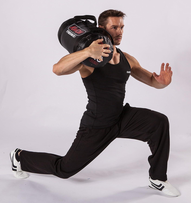Kwon Fitnessrolle schwarz//gelb-rot 10kg /& 20kg