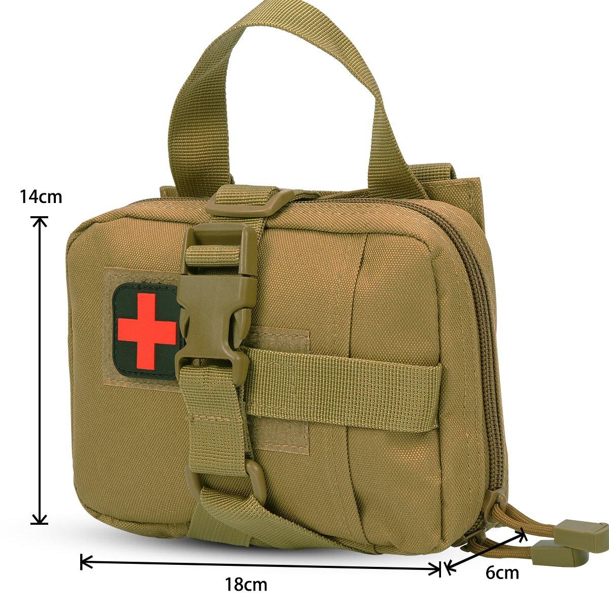 40fba4d5c710 IronSeals Quick Detachable Tactical Molle Medical EMT Pouch ...