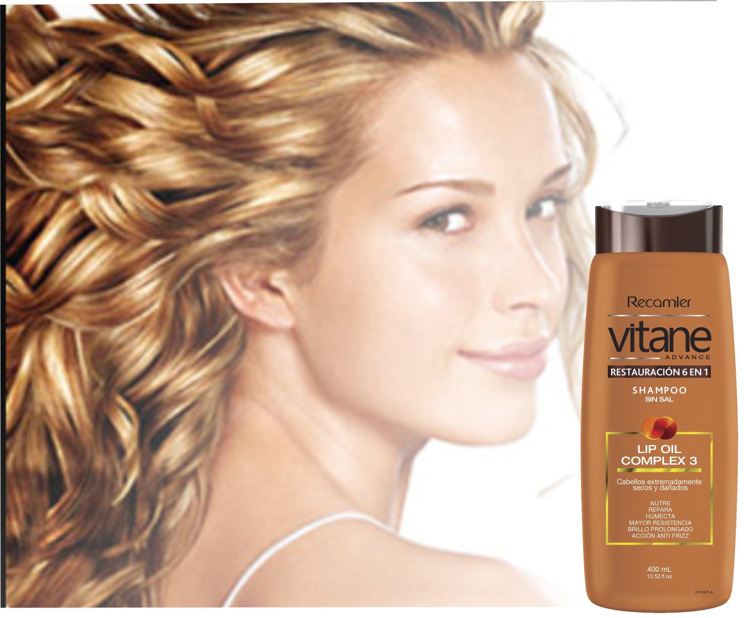 Vitane - shampoo restauracion 6 en 1, sin sal, cabellos super secos. /