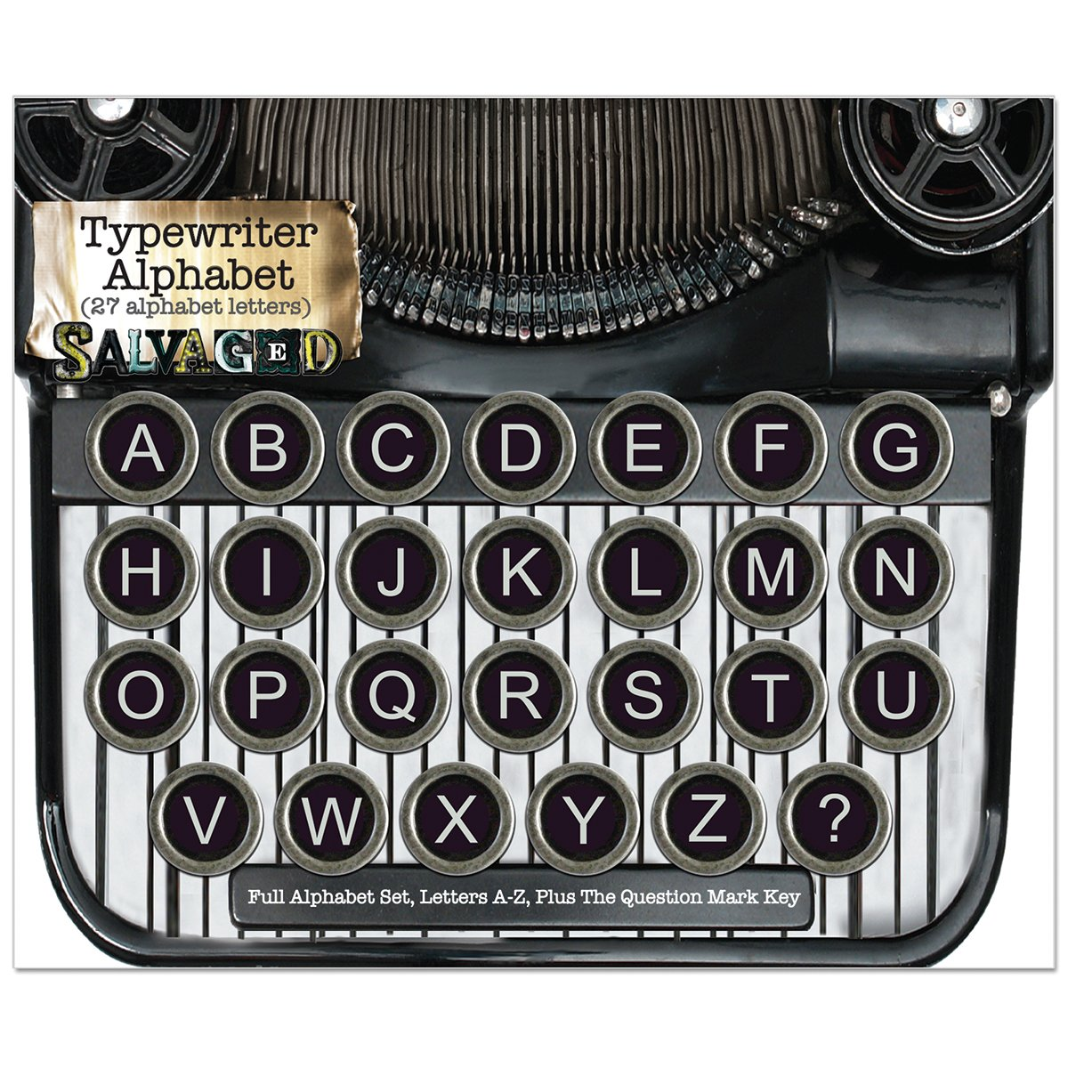 BCI Crafts Salvaged Vintage Typewriter Keys-Alphabet