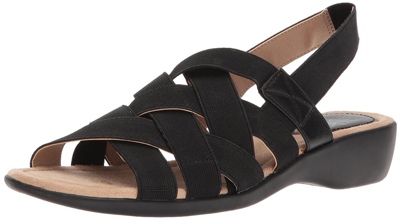 LifeStride Womens Trip Flat Sandal Black Size 60