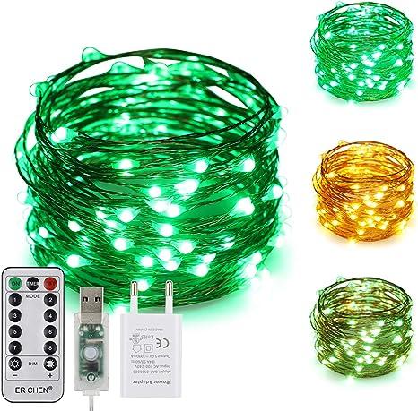 USB LED Micro Drahtlichterkette Lichterketter Innen/& Aussen 100 Lichter Warmweiß